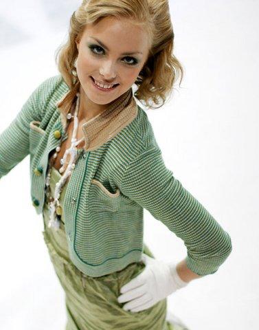 Кийра Корпи в зеленом