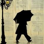 Loui Jover - мужчина под зонтом