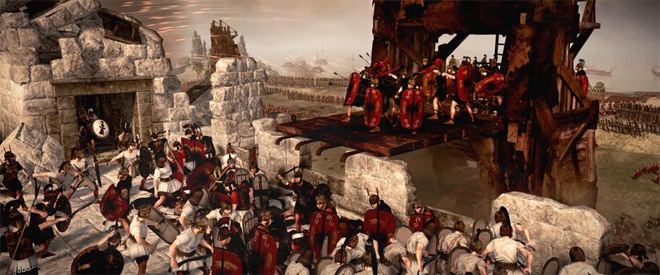 Total War: Rome 2 скриншот бой на стене